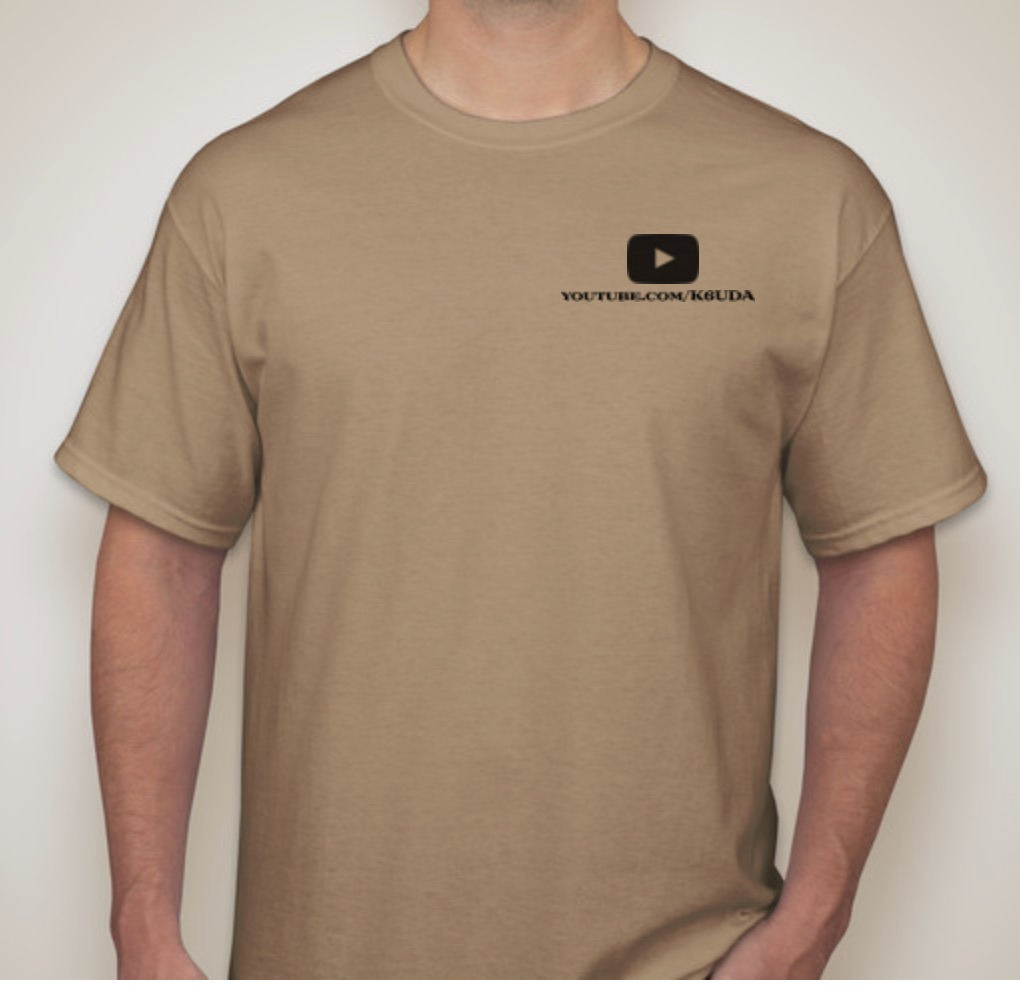 K6UDA Official Shirt 2XL Tan